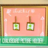 DIY Chalk Board Picture Holder