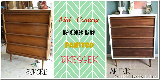Pleasant Mid Century Modern Painted Dresser Addison Meadows Lane Home Remodeling Inspirations Genioncuboardxyz