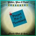 glitter glue paint