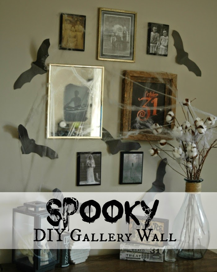spooky gallery wall