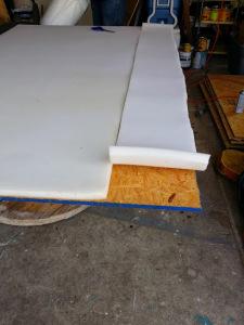 foam on plywood