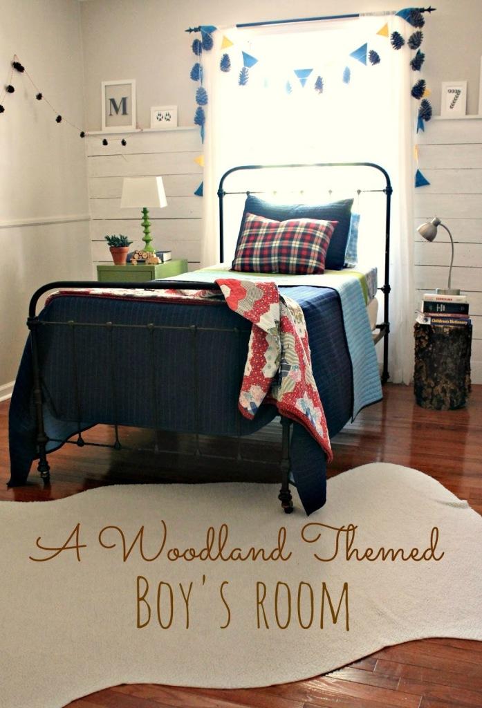 woodland themed boys room