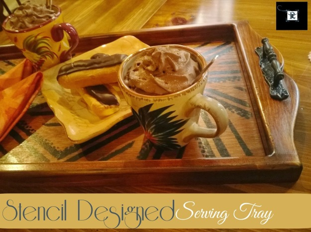Stencil Designed Serving Tray