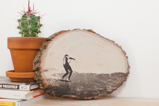 picture transfer wood slice