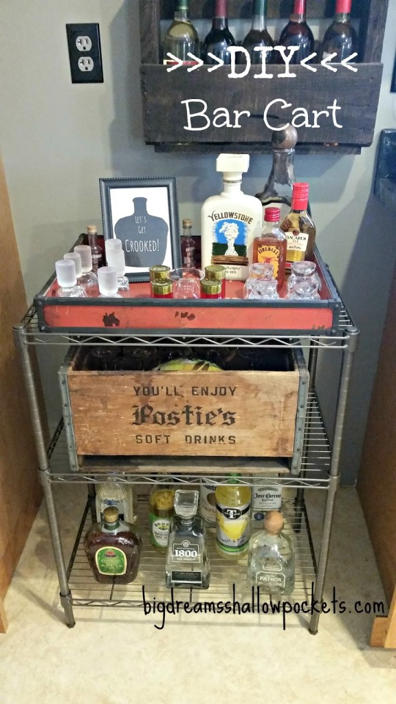 DIY bar cart 1