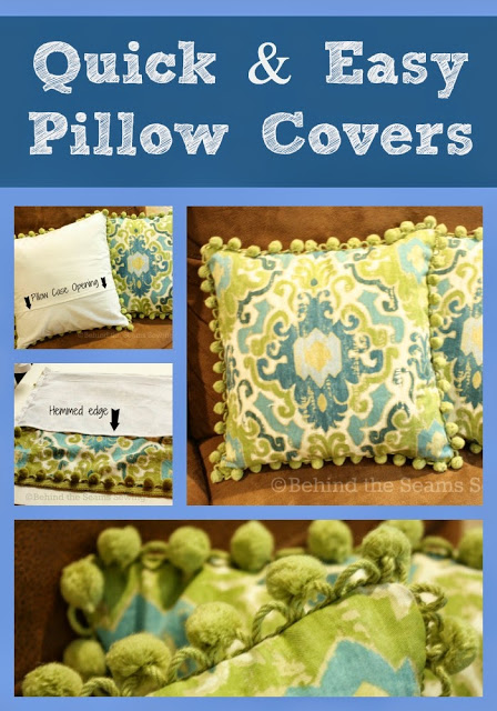 Quick and easy pillow covers