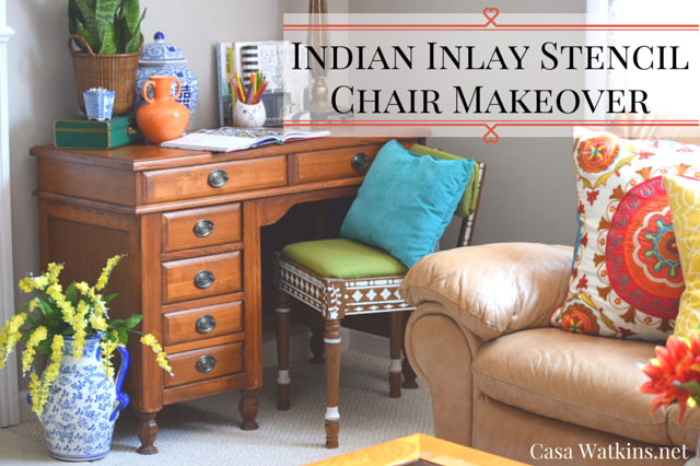 Indian-Inlay-Stencil-Chair-Makeover-Title