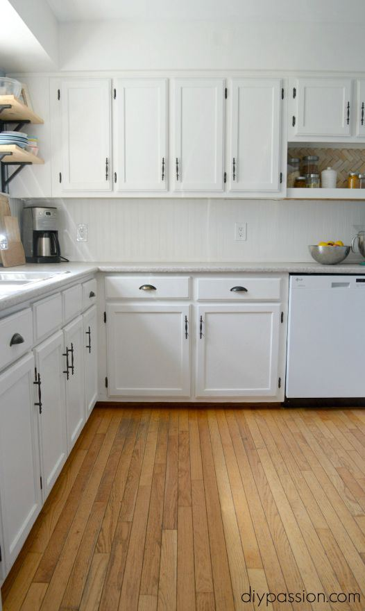 DIY-Kitchen-One-Year-Later-White-Painted-Cabinets