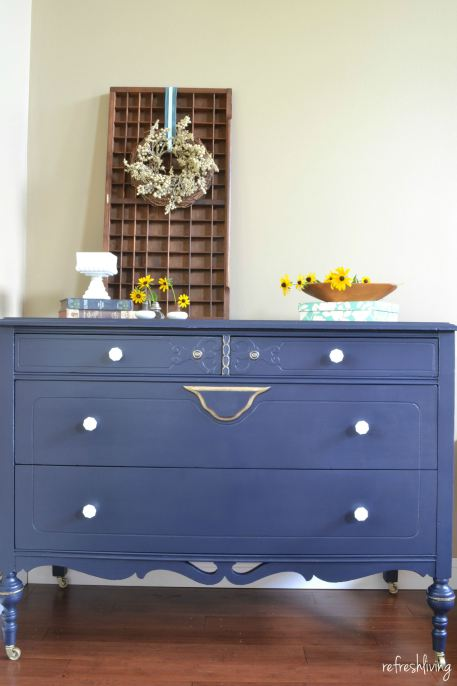 coastal-blue-dresser-with-gold-accents-2