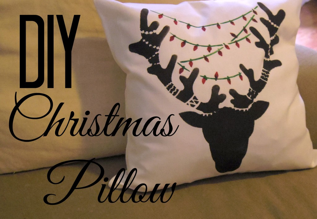 christmas pillow with words