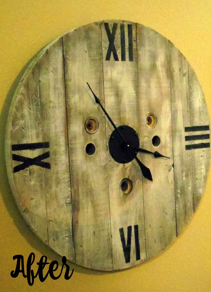 Diy Clock From A Wooden Spool Addison Meadows Lane