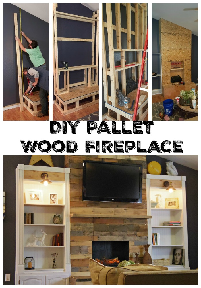 Diy Pallet Wood Fireplace · Addison Meadows Lane