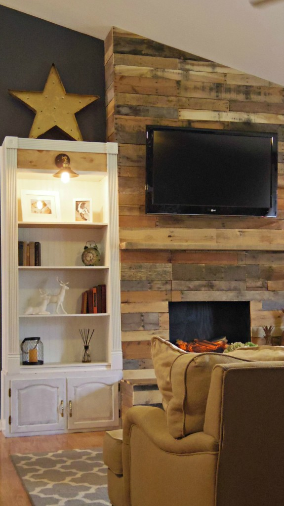 Diy Pallet Wood Fireplace 183 Addison Meadows Lane