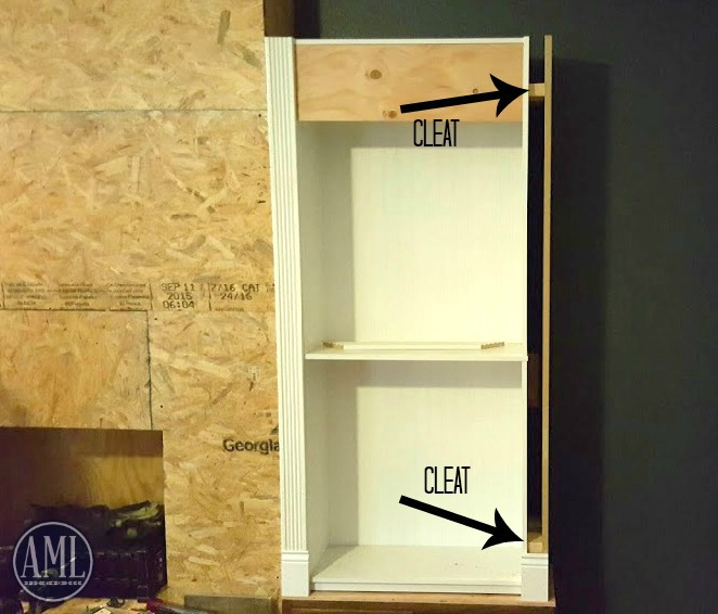 Bookshelf cleats