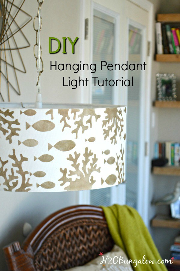 DIY-stenciled-lampshade-hanging-pendant-light-tutorial-H2OBungalow