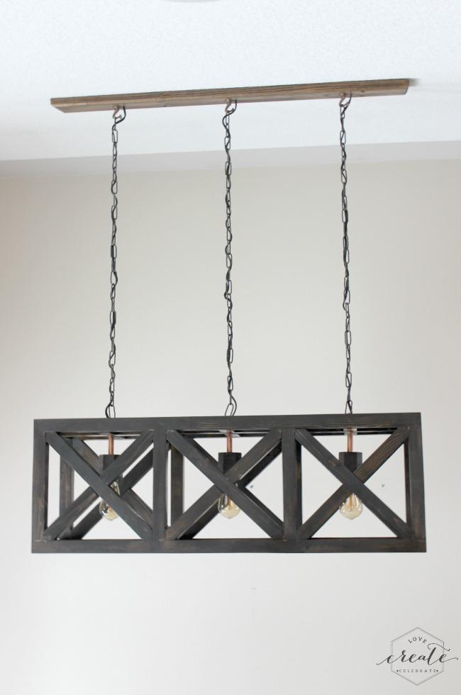 wooden DIY Hanging Chandelier