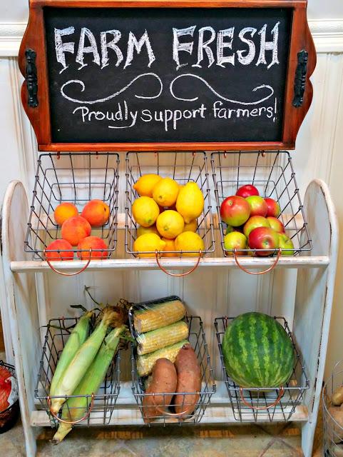 farmhouse style vegetable rack